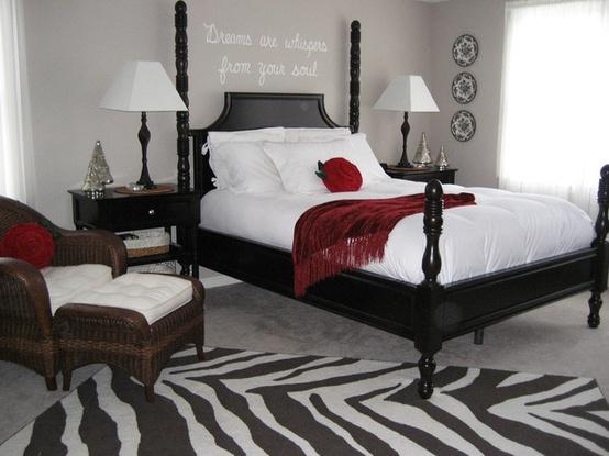 chambre a coucher noir et blanc