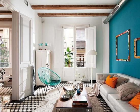 Elegant Salon Bleu Et Blanc · 932c1cae37c56c573154aa67cc17ed57